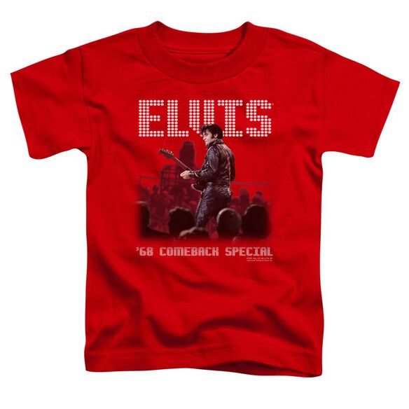 Elvis Return Of The King Short Sleeve Toddler Tee Red Sm T-Shirt