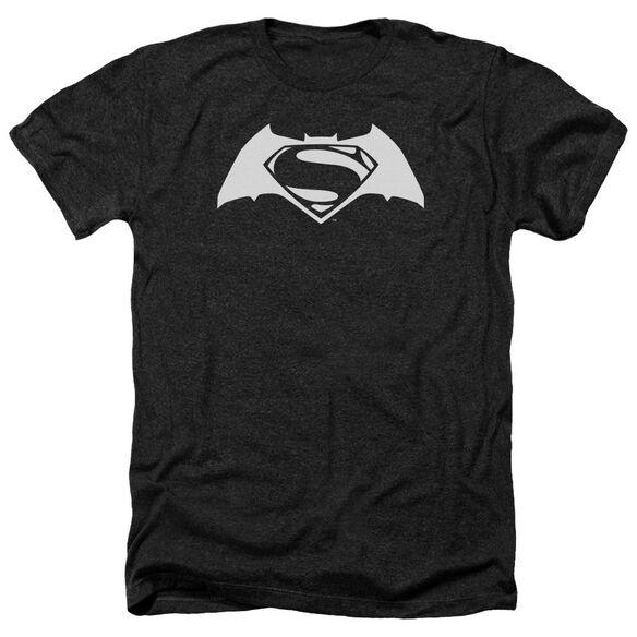 Batman V Superman Simple Logo Adult Heather