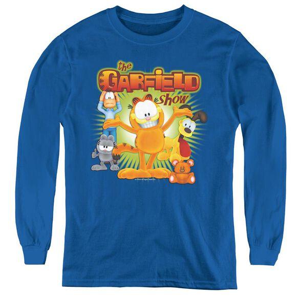 Garfield The Garfield Show - Youth Long Sleeve Tee - Royal Blue