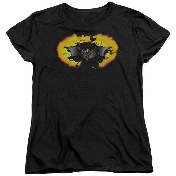 Dark Knight Armor Logo Explosion Short Sleeve Womens Tee T-Shirt