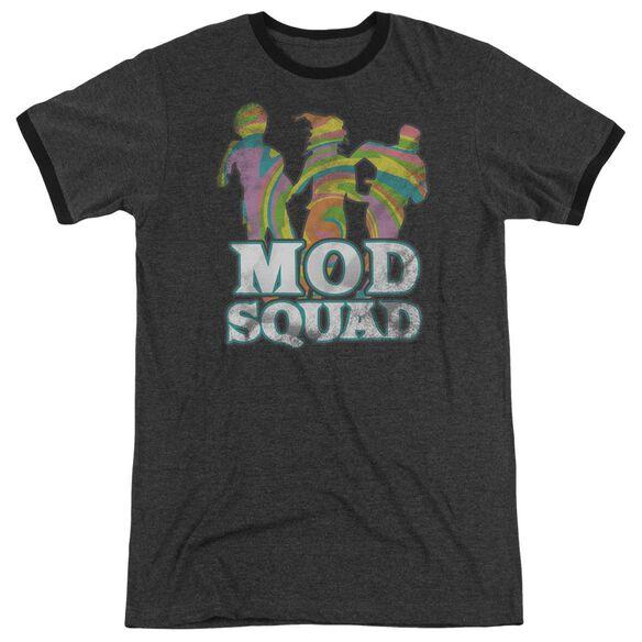Mod Squad Mod Squad Run Groovy - Adult Heather Ringer - Charcoal
