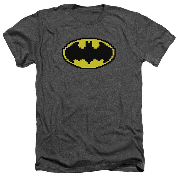Batman Pixel Symbol Adult Heather