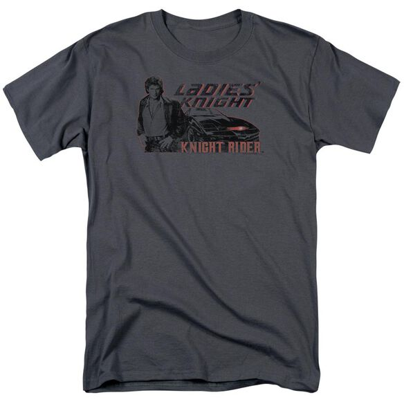Knight Rider Ladies Knight Short Sleeve Adult Charcoal T-Shirt