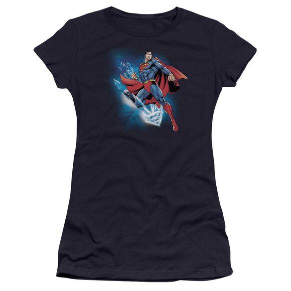 Superman Crystallize Premium Bella Junior Sheer Jersey