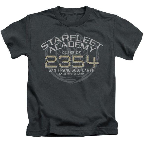 Star Trek Sisko Graduation Short Sleeve Juvenile Charcoal T-Shirt