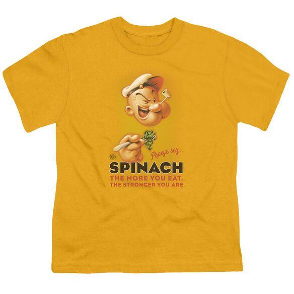 Popeye Spinach Retro Short Sleeve Youth T-Shirt