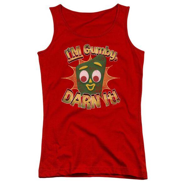 Gumby Darn It Juniors Tank Top