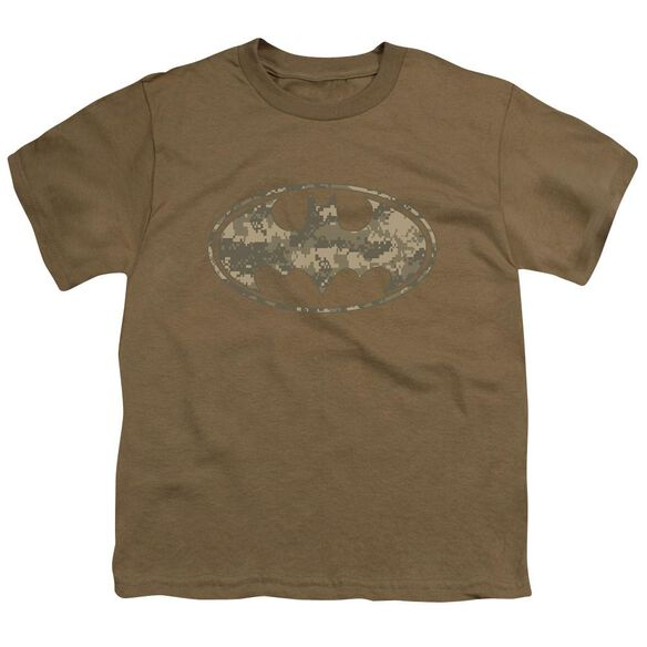 Batman Army Camo Shield Short Sleeve Youth Safari T-Shirt