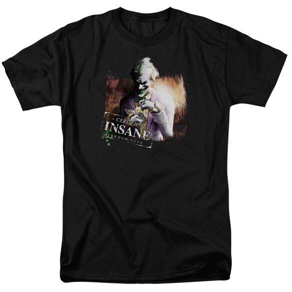 Arkham City Certified Insane Short Sleeve Adult T-Shirt