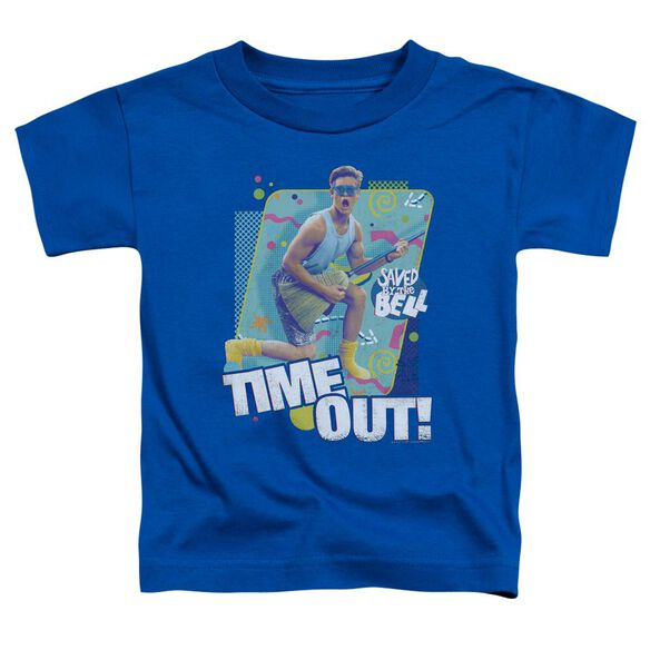 Saved By The Bell Time Out Short Sleeve Toddler Tee Royal Blue T-Shirt