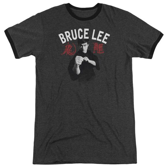Bruce Lee Ready Adult Heather Ringer Charcoal