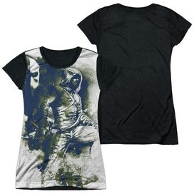 Arrow Spray Paint Short Sleeve Junior Poly Black Back T-Shirt