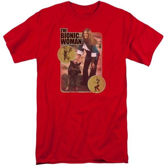 Bionic Woman Jamie And Max Short Sleeve Adult Tall T-Shirt