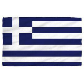 Greece Flag Beach Towel