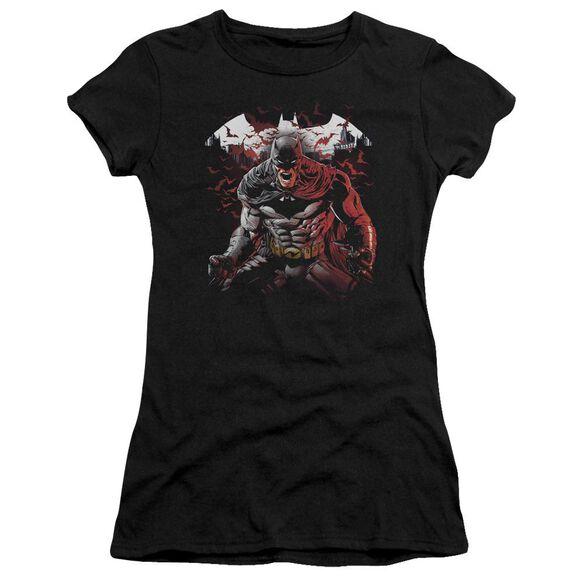 Batman Raging Bat Short Sleeve Junior Sheer T-Shirt
