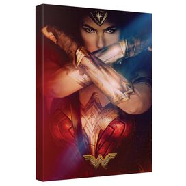 Wonder Woman Movie Poster 3 Canvas Wall Art With Back Board