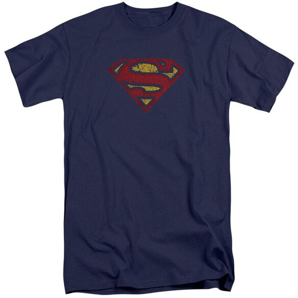 Superman Crackle S Short Sleeve Adult Tall T-Shirt
