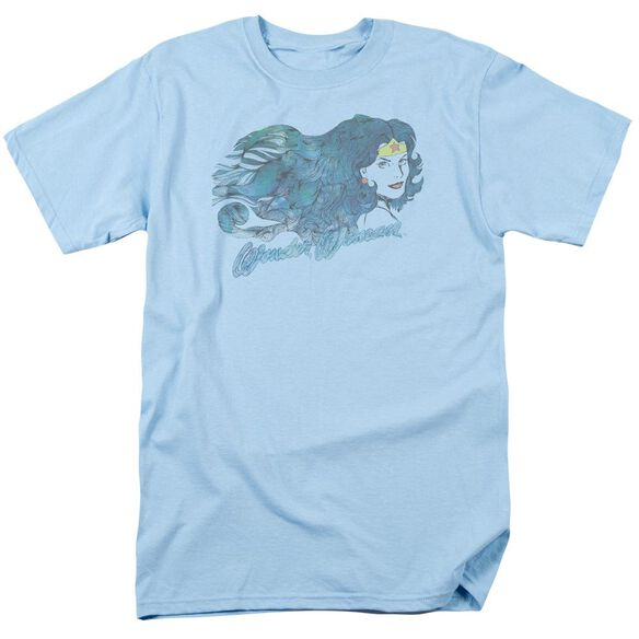 Jla Watercolor Hair Short Sleeve Adult Light T-Shirt