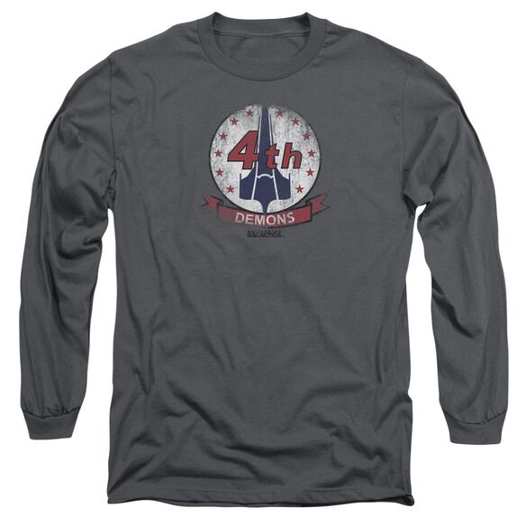 BSG DEMONS BADGE - L/S ADULT 18/1 - CHARCOAL T-Shirt