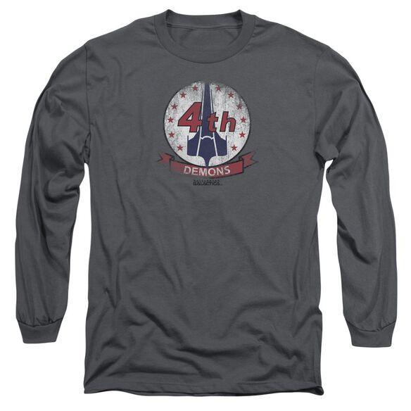 Bsg Demons Badge Long Sleeve Adult T-Shirt