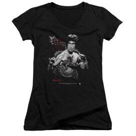 Bruce Lee The Dragon Junior V Neck T-Shirt