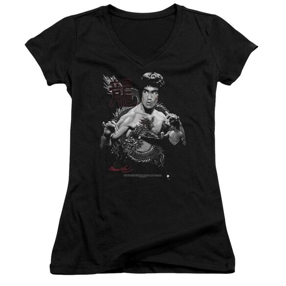 Bruce Lee The Dragon Junior V Neck T-Shirt