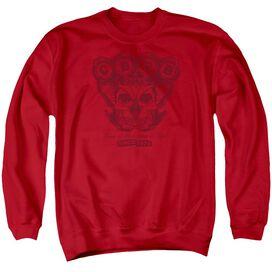 Cbgb Moth Skull Adult Crewneck Sweatshirt