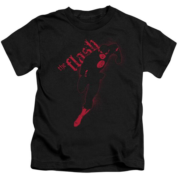 Jla Flash Darkness Short Sleeve Juvenile Black T-Shirt