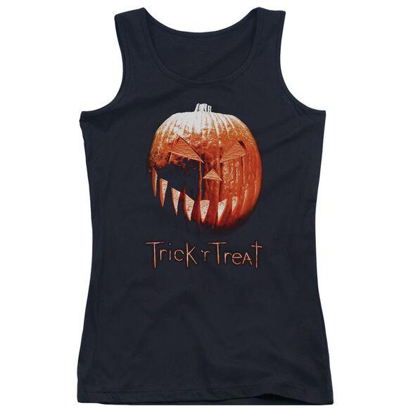 Trick R Treat Pumpkin Juniors Tank Top