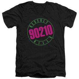 90210 Neon Short Sleeve Adult V Neck T-Shirt