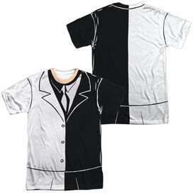 Batman The Animated Series Two Face Uniform (Front Back Print) Short Sleeve Adult Poly Crew T-Shirt