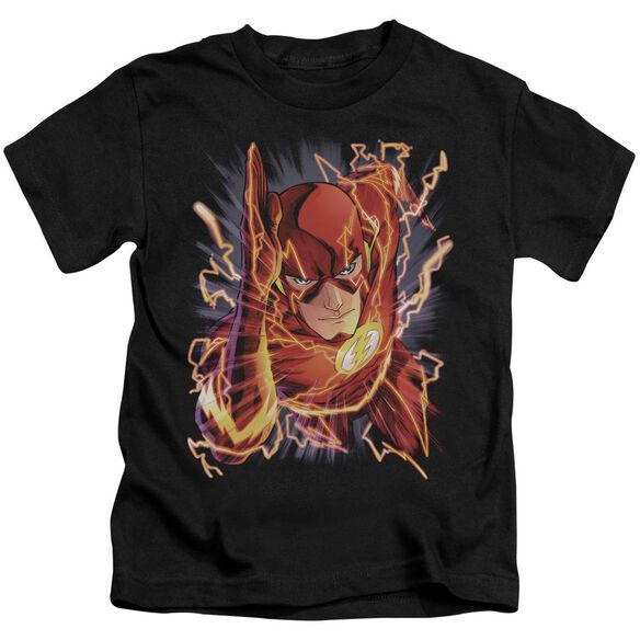 Jla Flash #1 Short Sleeve Juvenile Black T-Shirt