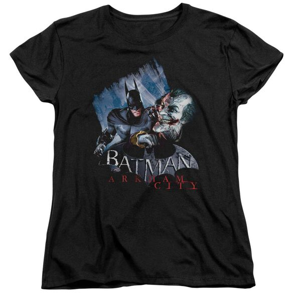 ARKHAM CITY JOKES ON YOU! - S/S WOMENS TEE - BLACK T-Shirt