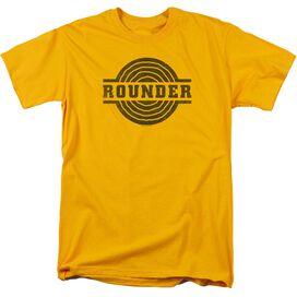 Rounder Rounder Distress Short Sleeve Adult Gold T-Shirt