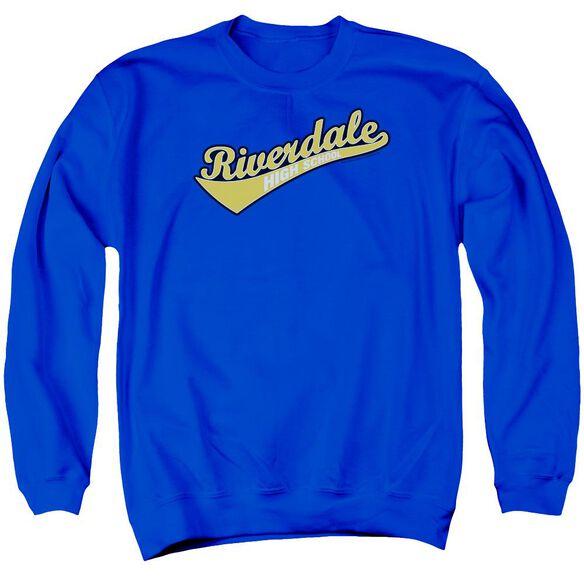Archie Comics Riverdale High School Adult Crewneck Sweatshirt Royal