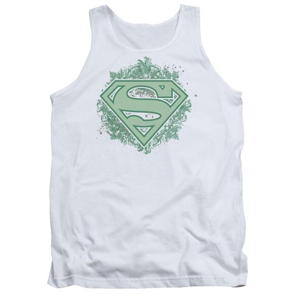 Superman Ornate Shield - Adult Tank - White