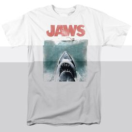 JAWS VINTAGE POSTER-S/S ADULT 18/1 - WHITE T-Shirt