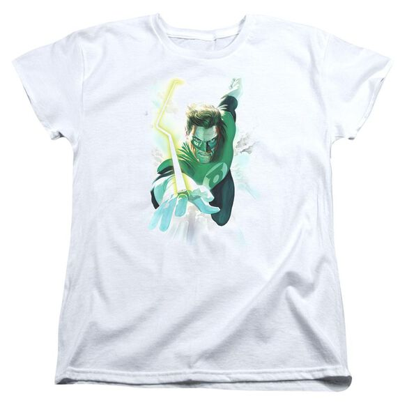 Green Lantern Clouds Short Sleeve Womens Tee T-Shirt