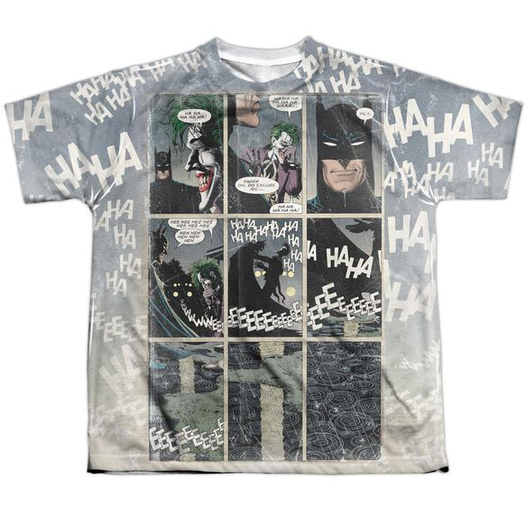 Batman Last Laugh Short Sleeve Youth Poly Crew T-Shirt