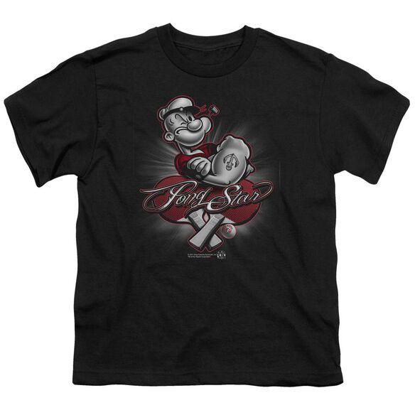 POPEYE PONG STAR - S/S YOUTH 18/1 - BLACK T-Shirt