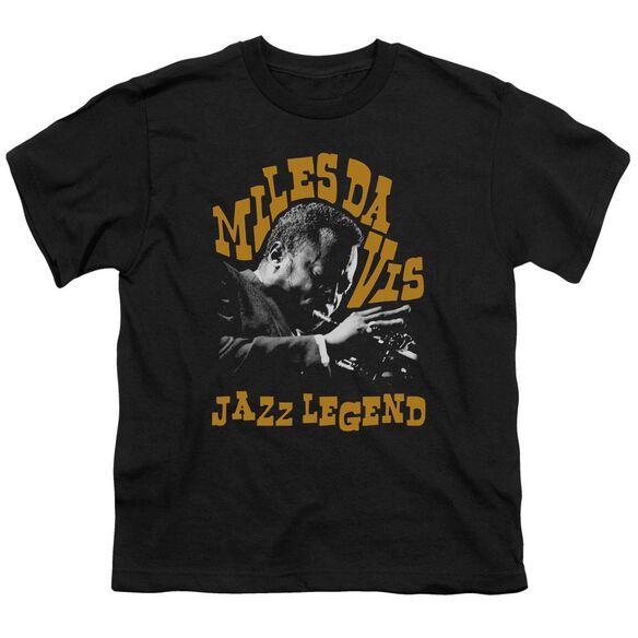 Miles Davis Jazz Legend Short Sleeve Youth T-Shirt