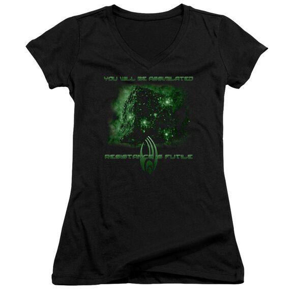 Star Trek Assimilate Junior V Neck T-Shirt