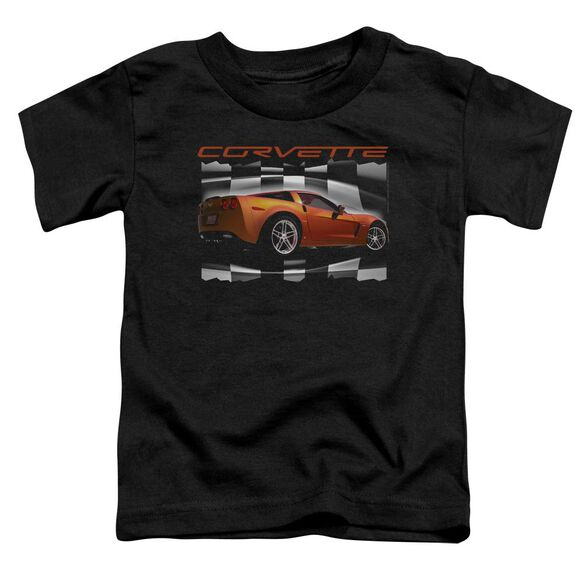 Chevrolet Orange Z06 Vette Short Sleeve Toddler Tee Black T-Shirt