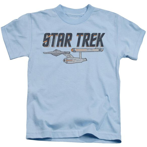 Star Trek Entreprise Logo Short Sleeve Juvenile Light Blue T-Shirt