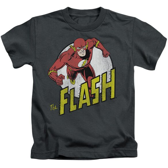 Dc Flash Run Flash Run Short Sleeve Juvenile Charcoal Md T-Shirt