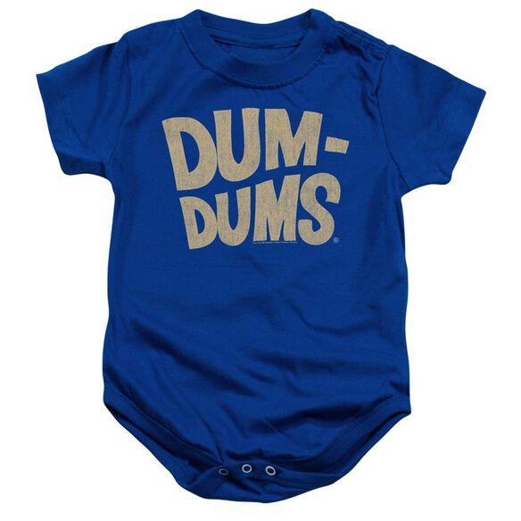 Dum Dums Distressed Logo Infant Snapsuit Royal Blue
