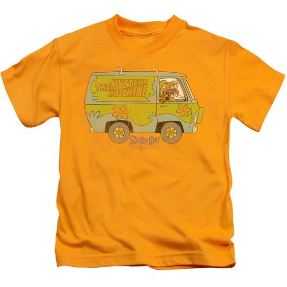 Scooby Doo The Mystery Machine Short Sleeve Juvenile Gold T-Shirt