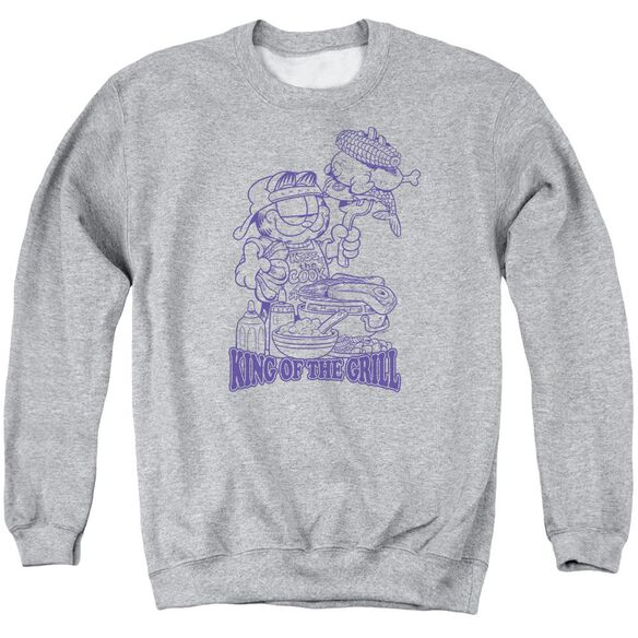 Garfield King Of The Grill Adult Crewneck Sweatshirt Athletic