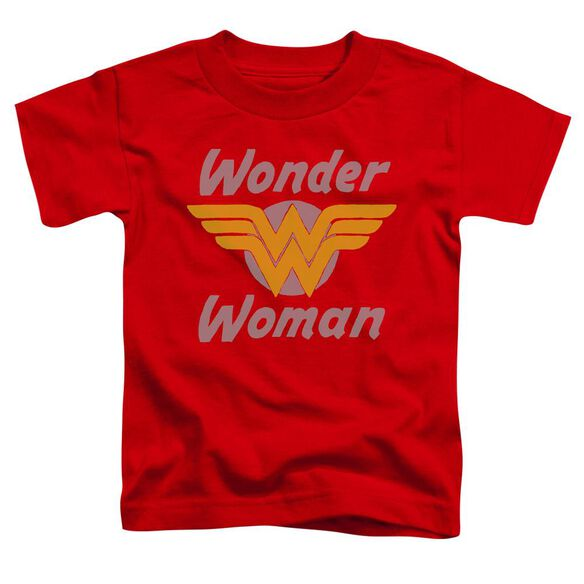 Dc Wonder Wings Short Sleeve Toddler Tee Red Md T-Shirt
