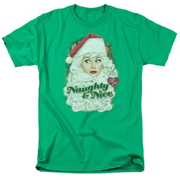 I Love Lucy Santa Short Sleeve Adult Kelly T-Shirt